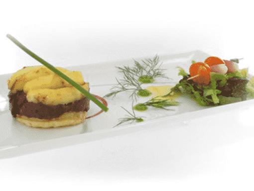 Boucher de France - Les Recettes - Feuilleté de Boudin Noir aux Pommes et son Mesclun