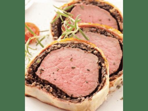 Boucher de France - Les Recettes - Rôti de Bœuf en Croûte de Champignons
